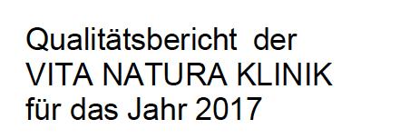 Qualitäts-bericht 2017 fertiggestellt